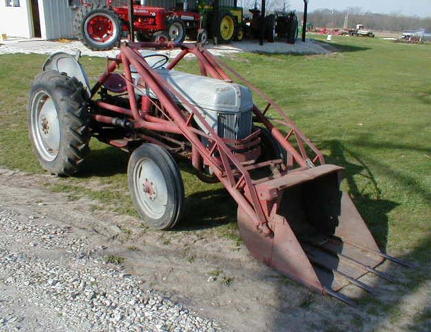 1953 Ford 8N - N Good Running Tractor With Pt Pto Speed Transmission With Hilo Tires Are Okay With Tread Includes Dearborn Trip Loader Sold - 1953 Ford 8N