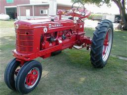 Restored Farmall Super H Tractor from chats tractors